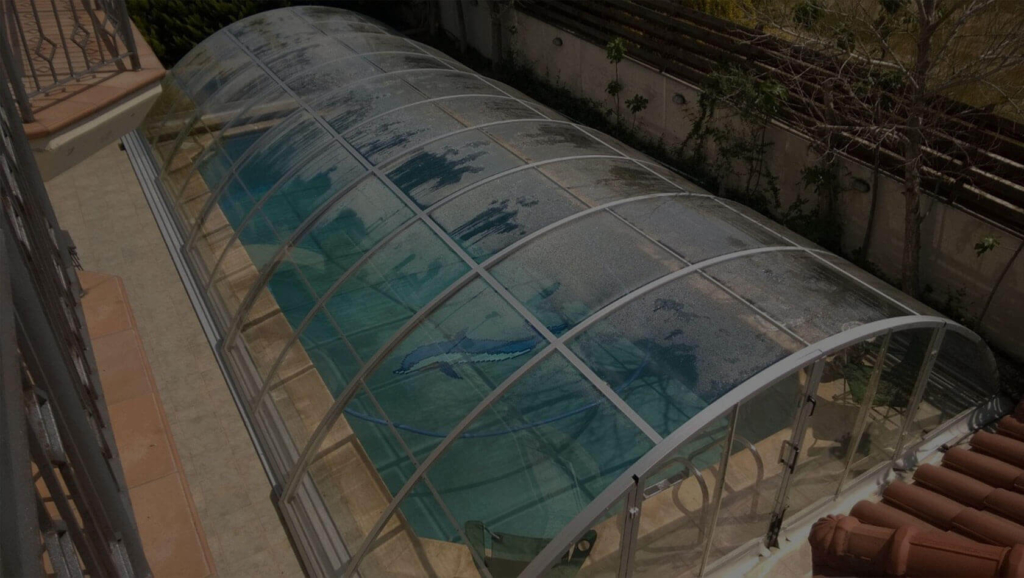 Retractable swimming pool enclosure pool cover polycarbonate 3mm clear pc for Retractable swimming pool covers